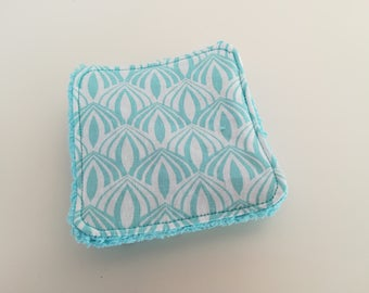 Washable cotton and turquoise Terry cloth