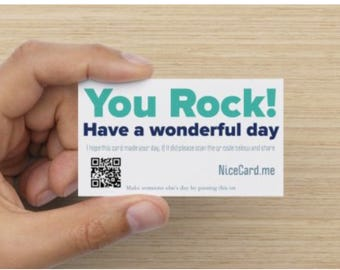 NiceCard - Business card that says something nice.