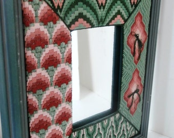 Mirror Needlepoint Design Professionally Framed