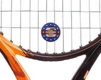 Georgia Tennis Dampener 2-Pack by Racket Expressions, Great Georgia State Tennis Gift!