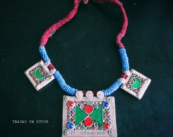 Free shipping - Boho Necklace / Kuchi / Tribal / Gypsy