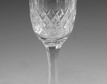 "TUDOR Crystal - CATHERINE Cut - Sherry Glass / Glasses - 4 3/4"" - Cut Foot"