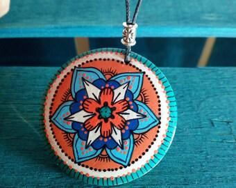 Clio Wood Pendant Necklace