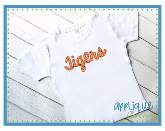 Personalized Tigers Football Applique Shirt or Bodysuit