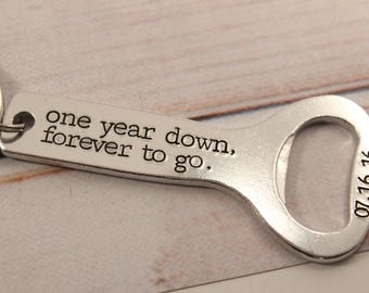 Personalized Bottle Opener Keychain - Your Choice of Text - Groomsman Gift - Best Man gift - gift for him - custom bottle opener