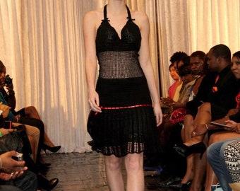 Little Black Dress - Hand Crochet Dress, Summer Dress, Special Occassion Dress, Made To Order