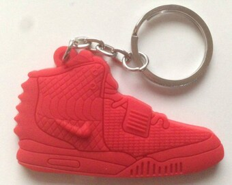 Nike Air Yeezy Red October Keychain