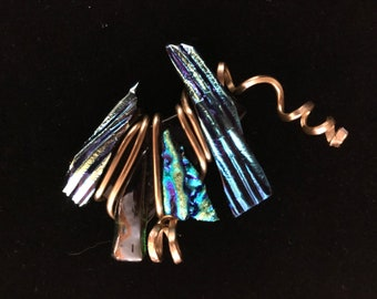 Dichroic and Fused Glass Pendant