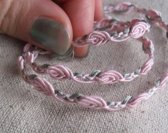 Light Pink rosette guimp trim