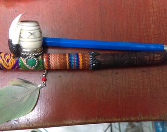 Pipe mystic with natural stone Crysocolla