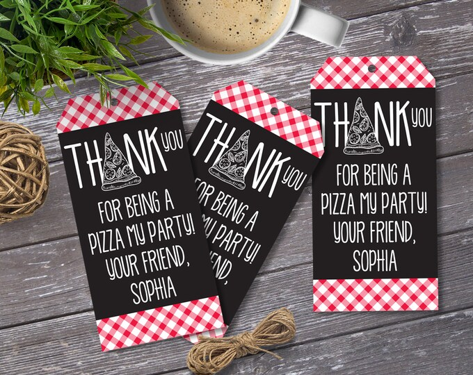 Pizza Party Food Labels - Buffet Tags - Name Placecards, Pizza Party, Pizza Birthday | EDITABLE Text INSTANT Download Printable PDF