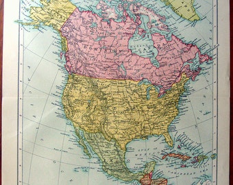 large map of north america