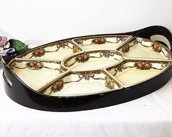 Vintage Hors d'oeuvre Set/Booths Harvester/Vintage Dining & Tableware/Party China/Kitchenalia/SALE(1317E)