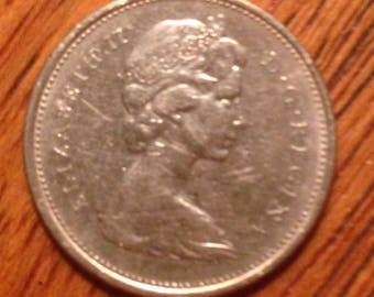1971 Queen Elizabeth II Canadian Quarter