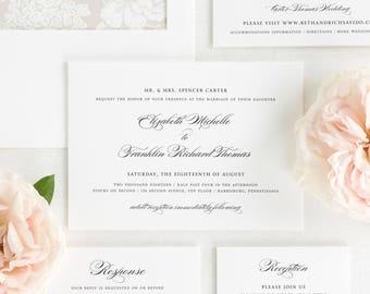 Timeless Elegance Wedding Invitations - Sample