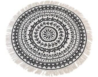 Round rug PLAQUE