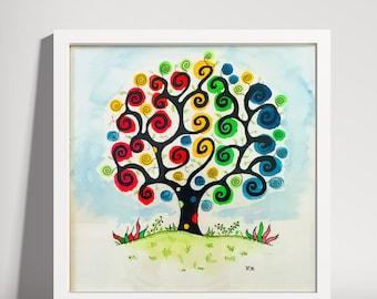 Watercolor Dream Tree