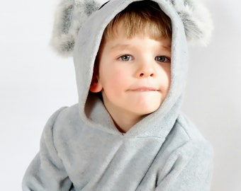 Koala hoodie / Koala costume / Toddler Hoodie / Kids Hoodie / Animal hoodie / koala dress up / handmade costume / Halloween costume