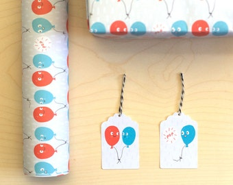 Burst Balloons Giftwrap Set