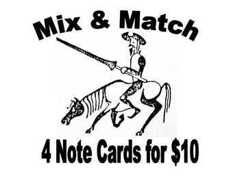 Mix and Match 4 Note Cards
