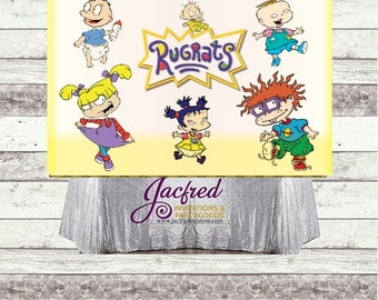Character inspired candy table backdrop