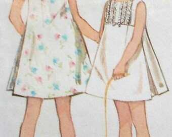 Vintage Girls Dress Sewing Pattern Size 12 Simplicity 5334