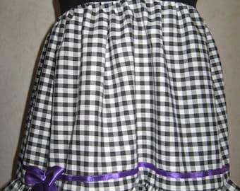 oth Baby Girls Black,White,Purple,red zebra Check Dress Headband set,Rock,Punk,Gift,Party