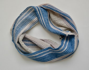Hand-woven Tussah Silk and Wool Natural Dyed Cowl