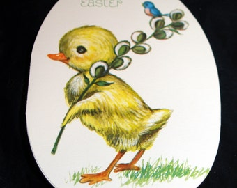 Vintage Happy Easter duckling card  - set of 2