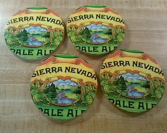 Sierra Nevada upcycled coasters, large pair o' pale ale