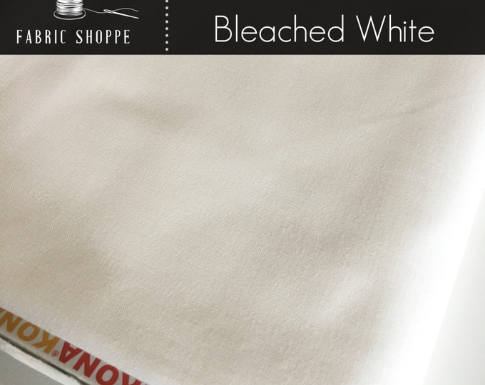 Kona cotton solid quilt fabric, Kona PFD BLEACHED WHITE 1287, Kona fabric, Solid fabric Yardage, Kaufman, Cotton fabric, Choose the cut