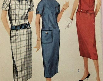Vintage Dress Sewing Pattern Simplicity 2442 Size 16