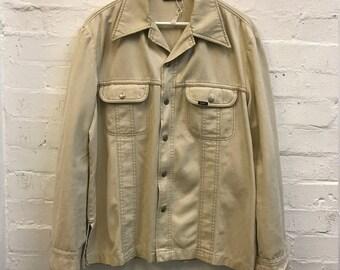 Amazing 1970's 70's Vintage LEE Jeans Western Denim Shirt Jacket Size L XL