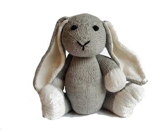 Downy the Hand Knit Bunny, soft toy, Handmade, stuffed animal, children's toy, baby shower gift, Easter, nursery decor, soft bunny, plush