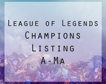 League of Legends Champions A-Ma