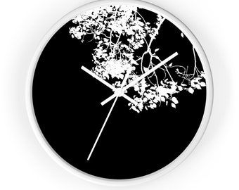 Tree branch Wall Clock,Unique Wall Clock,black and white wall clock,Minimalist Clock, Home Decor, Gifts for him, Gifts for her, gift ideas