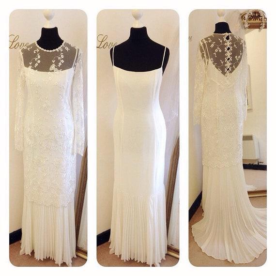 Brautkleid Vintage Hochzeitskleid 1920s 1930s 1940er Jahre