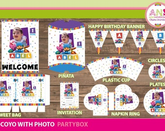 Personalized Cotillon Kit printable for parties Pocoyo with photo