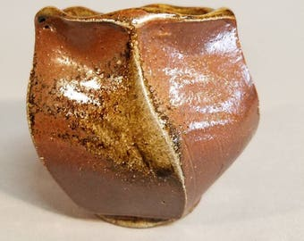 Wood-fired stoneware tea cup