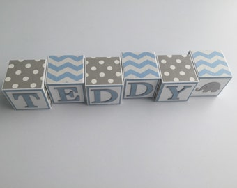 Baby Name Blocks Baby Boy Girl Babies Shower Gift Newborn Nursery Decor Photography Wall Letters Personalized