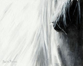 Horse Painting, Horse Art, Horse Decor, Fine Art Print - The Thoroughbred Series - Study for Soul