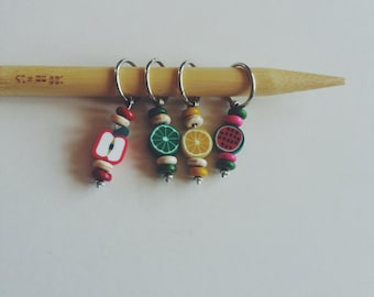 Fruits of Labor Stitch Markers - Set of 4