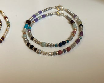 Pearl and Gemstone Ankle and Wrist Brqcepets (Summer Collection)
