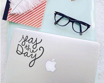 Seas The Day                , Laptop Stickers, Laptop Decal, Macbook Decal, Car Decal, Vinyl Decal