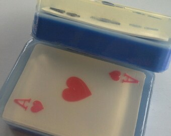 Ace of Spades, ace of hearts, ace of clubs, ace of diamonds Glycerin Bath Soap