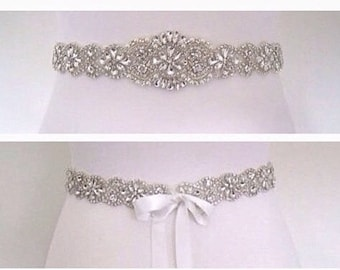 Bridal belt, bridal sash, wedding belt, wedding dress belt,wedding sash, all around bridal sash, all around wedding belt