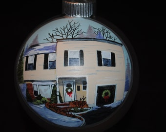 Terrific House warming gift idea. Done from picture added snow and decor...-sold