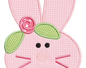 740 Bunny Face 2 Embroidery Applique Design