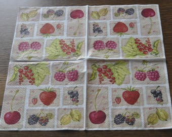 red fruit theme towel