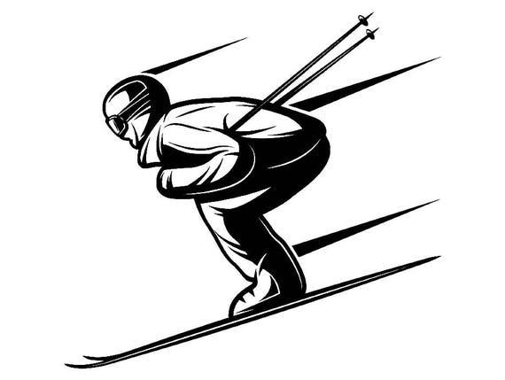 snow skier 2 skiing snowboarding helmet goggles mask ski winter rh etsystudio com ski clipart gif skis cliparts